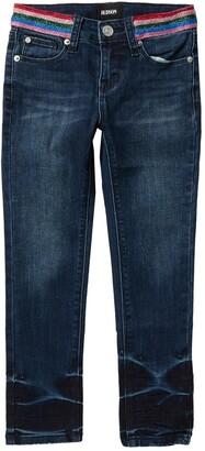 Hudson Rainbow Glitter Stripe Skinny Jeans