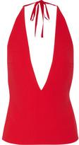 Gareth Pugh Crepe Halterneck Top - Red