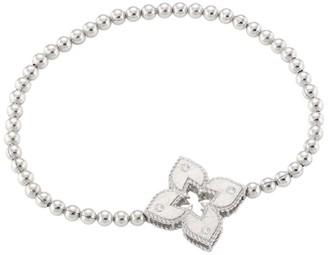 Roberto Coin Petite Venetian Large Station 18K White Gold & Diamond Bracelet
