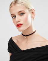 Asos Faux Pearl Brownstone Choker Necklace