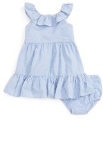 Ralph Lauren Infant Girl's Ruffle Seersucker Dress