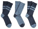F&F 3 Pair Pack of Chunky Knit Thermal Socks, Men's