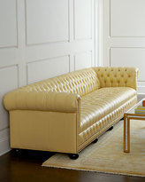 "Old Hickory Tannery Zerenity 93""L Leather Chesterfield Sofa"