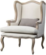 Bed Bath & Beyond Auvergne Wood Traditional French Accent Chair in Beige