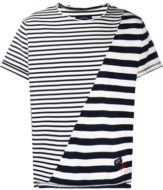 Greg Lauren X Paul & Shark striped-print slip T-shirt