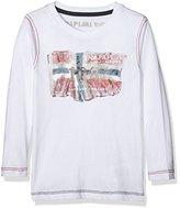 Napapijri Boy's K SAPTARI Long Sleeve Top, White (BRIGHT WHITE)