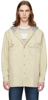Levi's Levis Beige Hooded Jackson Overshirt Jacket