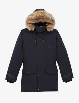 The Kooples Faux fur-trim shell coat