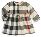 Burberry 'Emalie' Check Cotton Flannel Dress (Baby Girls)