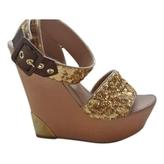 Louis Vuitton Gold Heels