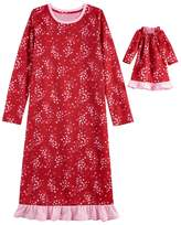 Girls 4-16 Jammies For Your Families Heart Print Nightgown & Doll Nightgown Set
