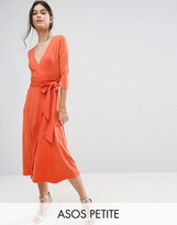Asos Wrap Maxi Dress in Crepe