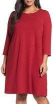 Eileen Fisher Jersey A-Line Dress (Plus Size)