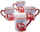 Certified International Beach House Lobster 4-pc. Coffee Mug Set