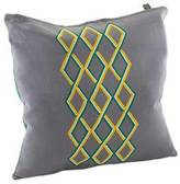 Embroidered Cotton Cushion Cover, 'Diamond Waterfall'