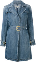 MICHAEL Michael Kors denim fitted coat