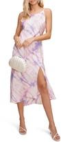 ASTR the Label Bias Cut Sleeveless Satin Midi Dress