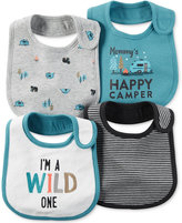 Carter's Baby Boys' 4-Pack Little Wild One Teething Bibs