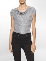 Calvin Klein Metallic Textured Angled Sleeveless Top