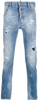 Dsquared2 patch detailed stonewashed jeans