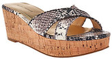 Marc Fisher As Is Cross Band Wedge Sandals - Cilla