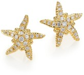 Temple St. Clair Diamond & 18K Yellow Gold Sea Star Stud Earrings