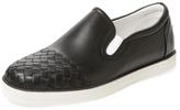 Bottega Veneta Round-Toe Slip-On Sneaker