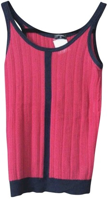 Chanel Red Cashmere Top for Women