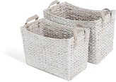 LOMBOK Water Hyacinth Flared Basket Set