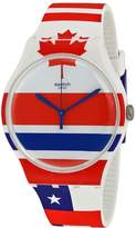 Swatch Flagtime Red White and Blue Dial Silicone Men's Quartz