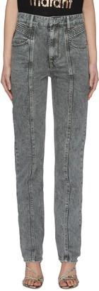 Etoile Isabel Marant 'Hominy' Acid Wash Panelled Jeans