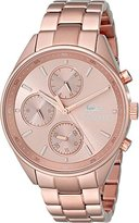 Lacoste Women's 2000867 Philadelphia Rose Gold-Tone Stainless Steel Watch