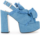 No.21 denim platform sandals - women - Cotton/Calf Leather/Goat Skin - 36