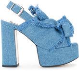 No.21 denim platform sandals