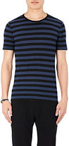 John Varvatos Men's Striped Slub Jersey T-Shirt-BLUE