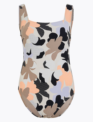 Marks and Spencer Tummy Control Floral Square Neck Swimsuit