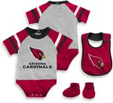 NFL Arizona Cardinals 3-Piece Creeper Bib and Bootie Set