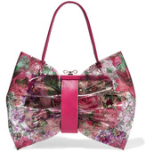 RED Valentino Leather-trimmed printed PVC and canvas shoulder bag
