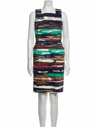 Oscar de la Renta 2011 Knee-Length Dress Blue