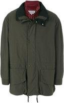 Maison Margiela hooded double layer parka coat