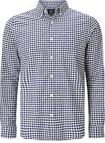 John Lewis Gingham Oxford Shirt, Navy/white