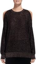 Whistles Sparkle Cold-Shoulder Sweater
