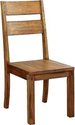 Hokku Designs Bethanne Ladder Back Side Chair in Dark Oak