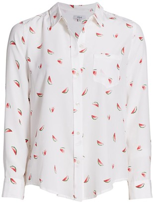 Rails Kate Watermelon Print Silk Blouse