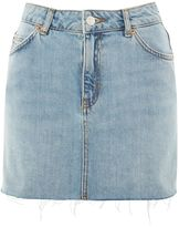 Topshop PETITE High Waisted Denim Skirt