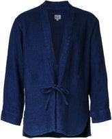 Gold Herringbone kimono shirt