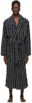 Tekla Black and White Classic Bathrobe