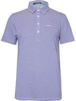 RLX Ralph Lauren Airflow Striped Stretch-Jersey Golf Polo Shirt