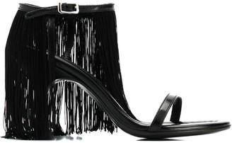 MM6 MAISON MARGIELA ankle fringed sandals