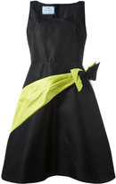 Prada bow detail flared dress